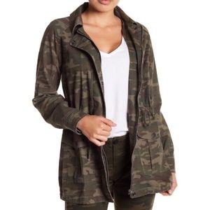 Anthro sanctuary camo fishtail parka jacket